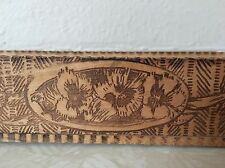 Antique Victorian Wizard Grammes & Son Wood Glove Box Pyrography Pansy Pansies