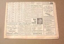 1966 Atlanta Journal Newspaper -  Meet The Atlanta Falcons FB Team Hanson Buick