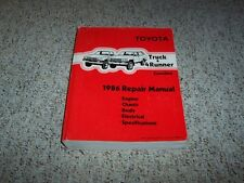 1986 Toyota Truck & 4Runner Factory Shop Service Repair Manual 4WD