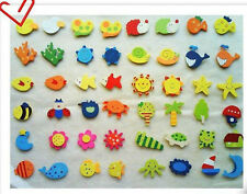 Animal Wooden Fridge Magnet Sticker Creative Refrigerator Toy Kid Toys Gift 12pc