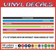 """3"""" PAIR Running board Racing Stripe Decal Graphic Sticker Rally Car Truck Auto"""
