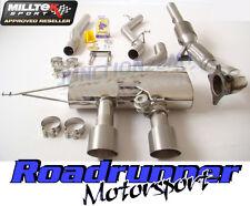 Milltek Golf R MK6 Turbo Back Exhaust Non Res Titanium Tails Inc Downpipe Cat