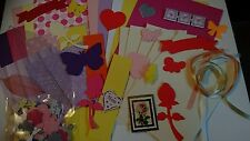 GIRLY CARD KIT TO MAKE 5 X A6 CARDS WITH EMBELLISHMENTS  FREE FIRST CLASS POST