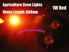 10, 1W High Power Red Led Lamp Beads 650nm ~ 680nm Agriculture Grow Lights 660nm