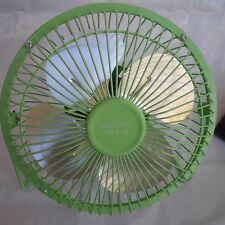 Checkys Deals six inch metal usb powered fan office computer desk portable green