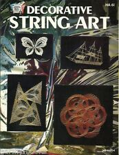 Decorative String Art HA61 1977 Vintage 10 Patterns Instruction Craft Book NEW
