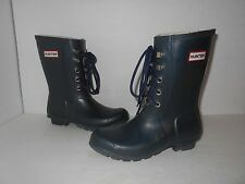 """HUNTER"" Womens Sz 7  Original Lace Up Wellies Rain Boots-$79.21  Fast Ship"