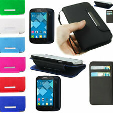 custodia cover case flip cover libro per alcatel one touch 4033D pop c3