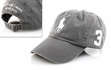 Polo Ralph Lauren Big Pony Cap Basecap Base Cap Mütze grey one Size