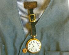 WALTHAM 23J RAILROAD POCKET WATCH WITH FOB