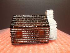 """VTG AVON Decanter Bottle"""" HOMESTEAD"""" Brown Glass  1973 -1974,(Log Cabin)"""