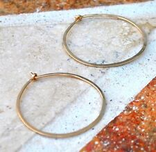 14K Small Gold Filled Hand Hammered Huggie Hoops
