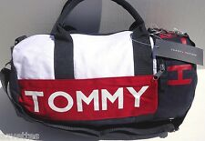 NEW! Blue/Red/White SMALL [TOMMY HILFIGER] Tommy Tote Bag ~ MINI ~ DUFFLE #467