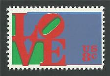 1973 Robert Indiana LOVE Red Color Downward Frame Shift Error Stamp MINT! #1475