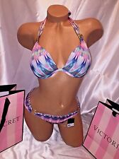 Victorias Secret Swimsuit The Hottie Halter Tie-Dye 34C Small