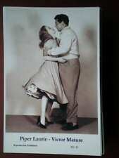 POSTCARD PIPER LAURIE - VICTOR MATURE
