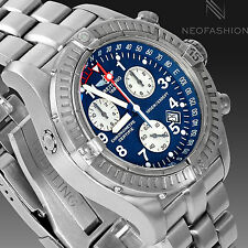 BREITLING CHRONO AVENGER M1 TITANIUM 44MM BLUE DIAL MENS DIVING WATCH E73360