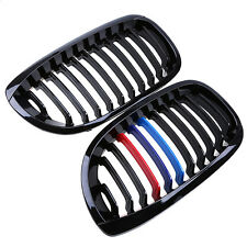 For BMW E46 3 Series (2DR) 2002 - 2006 Front Kidney Grilles Grill - Gloss Black