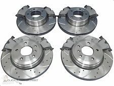 BMW E60 530D 530 M SPORT FRONT & REAR DRILLED GROOVED BRAKE DISCS & MINTEX PADS