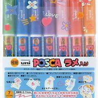 Mitsubishi Uni Posca PC-1ML 7C Marker Pen with Glitter 7-Color Set 4902778719428