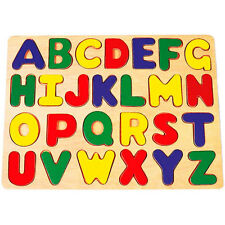 Brand NEW Wooden ABC Alphabet Educational Learning Children's Puzzle Toy