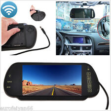 "7"" TFT LCD Color Car SUV USB SD Bluetooth MP5 FM Rearview Mirror HD DIsplay Kit"