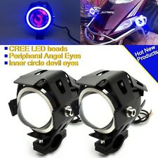 2X 125W 3000LM CREE U7 LED Motorcycle Moto Headlight Driving Spot Fog Lamp