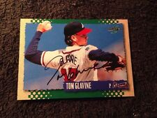 TOM GLAVINE Signed Autographed 1995 Pinnacle Score CARD 95 WORLD SERIES MVP AUTO