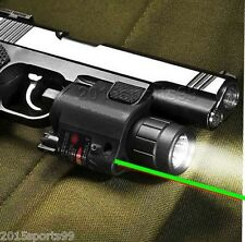 QR Mount Combo Cree Led Flashlight Green Laser Sight + remote switch fit Glock