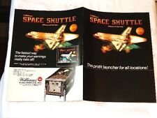 1984 WILLIAMS SPACE SHUTTLE PINBALL 4-PAGE FLYER NOS