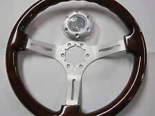 FIAT 124 SPIDER, PININFARINA 2000, 131, WOOD STEERING WHEEL, 350MM, SATIN SPOKES