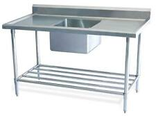 New Stainless Steel Commercial Catering Kitchen Sink unit 1200 w x 600mm d,