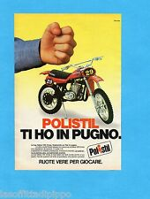 TOP985-PUBBLICITA'/ADVERTISING-1985- POLISTIL - GILERA 125 CROSS scala 1:15