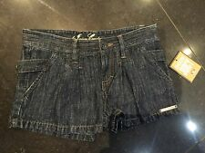 NWT Juicy Couture New & Genuine Girls Age 8 Denim Shorts With Juicy Couture Logo