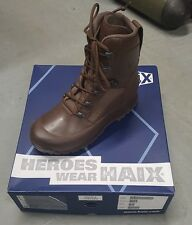 UK 8M HAIX Combat Leather MOD Brown Boots -  British Army - Hiking - Cadets