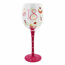 Juliana Decorated 18 Wine Glass 18th Birthday Keepsake Gift