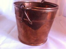 "Vintage 5"" Tall  Copper Bucket Pail with handle"