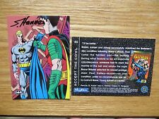1994 BATMAN SAGA OF THE DARK KNIGHT AZRAEL GETS COWL CARD SIGNED SCOTT HANNA,POA