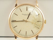IWC International Watch Co Schaffhausen Vintage 18K Rose Gold Original Dial