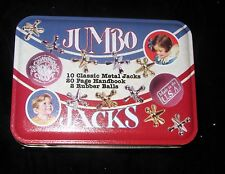 CHANNEL CRAFT CLASSIC GAMES WINKS JACKS DOMINOES; 2 IN ORGINAL SEALED TIN BOX