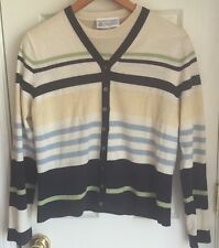 Laura Ashley Cool Wool Striped Sweater Set Women's Size Large