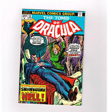 TOMB OF DRACULA #19 Grade 7.5 Bronze Age horror w/ intact Mephisto value stamp!