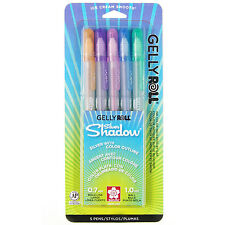 Sakura Gelly Roll SILVER SHADOW - 5pk Assorted Color Pen Set