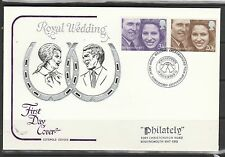 GB FDC, 1973 boda real, Cotswold cubierta, gran Somerford cancelar, Pie de imprenta ADDR