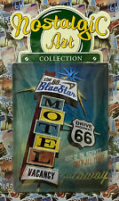 Route 66: The 66 Blue Star Motel - Tin Metal Wall Sign