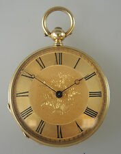 MINT Solid 18K Gold Ladies Key Wound Pocket Watch c1870