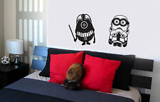 Star Wars Minions Wall Decal vinyl lettering sticker cute bedroom decor