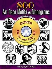 500 Art Deco Motifs and Monograms (Dover Electronic Clip Art), Welo, Samuel, Ver