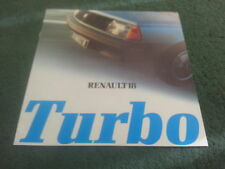 MINT 1981 MODEL / Oct 1980 RENAULT 18 TURBO Saloon - UK 8 page BROCHURE