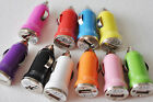 1A CAR LED USB A/C LIGHTER CHARGER travel power FOR Apple iphone 4s 5c 6 iPod 7